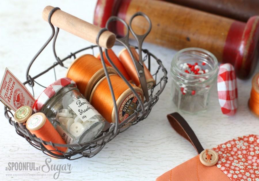 Simple Pumpkin Coasters - beginner sewing tutorial by A Spoonful of Sugar
