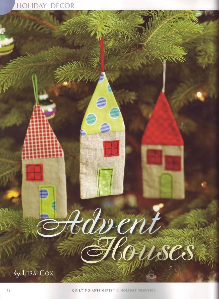 Quilting Arts Gifts - Advent Houses