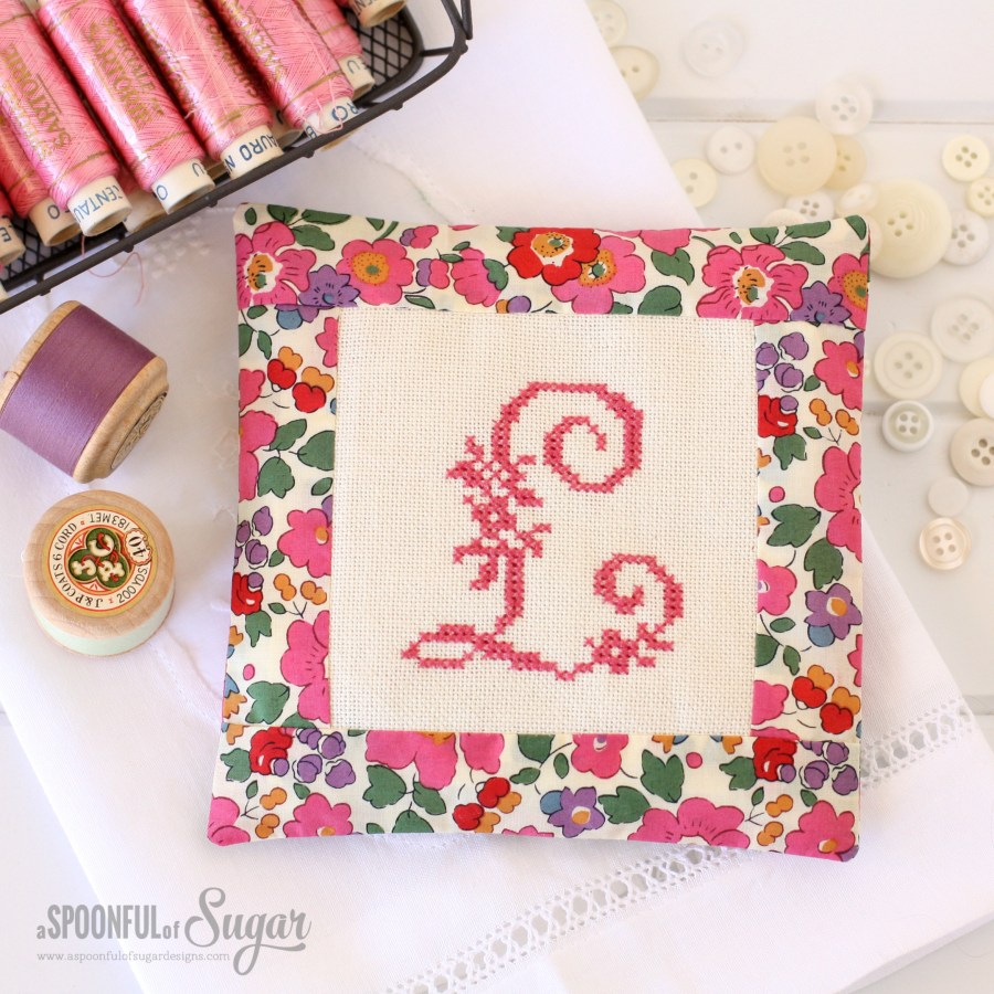 Monogrammed Sachets - project from Maison Sajou Sewing Book.