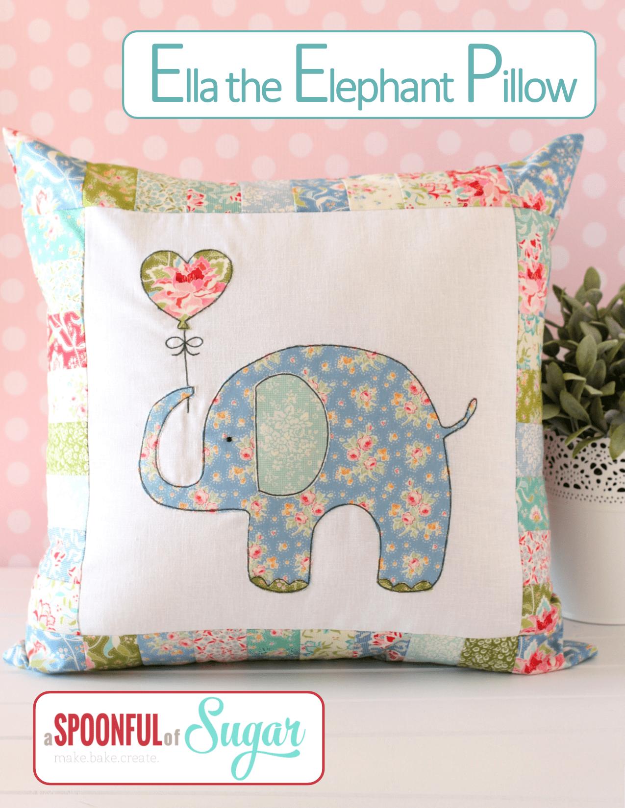 Ella the elephant pillow a spoonful of sugar ella the elephant pillow pdf sewing pattern by a spoonful of sugar jeuxipadfo Gallery