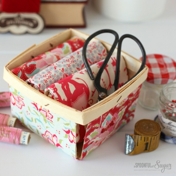 Fabric Covered Berry Box by A Spoonful of Sugar www.aspoonfulofsugardesigns.com