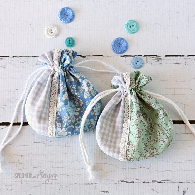 Money Bags - drawstring gift bags by A Spoonful of Sugar www.aspoonfulofsugardesigns.com