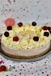 No-Bake Cherry Bakewell Cheesecake