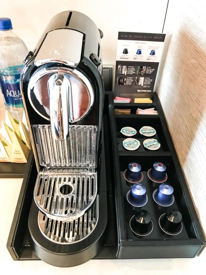 Nespresso machine in Haven Spa Suite