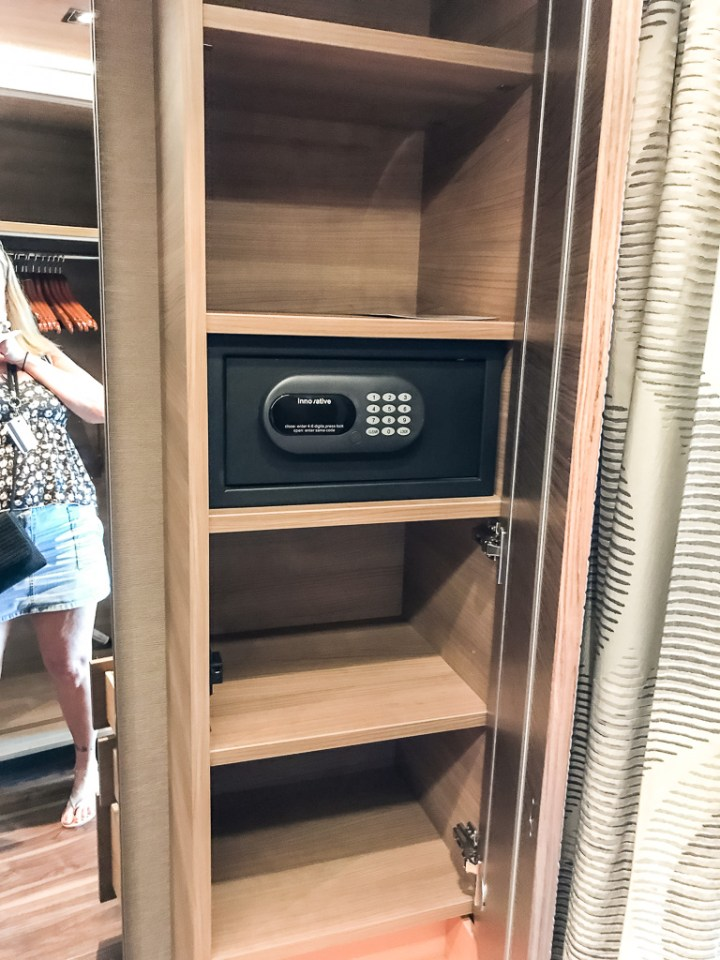More storage and safe in Haven Spa Suite