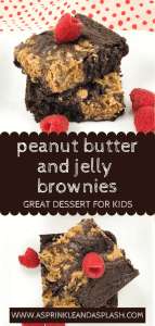 Peanut Butter and Jelly Brownies pin