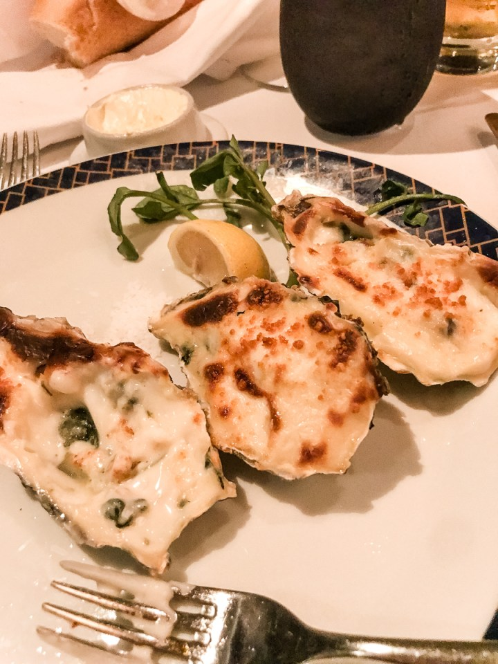 Oysters Rockefeller at Cagney's Steakhouse