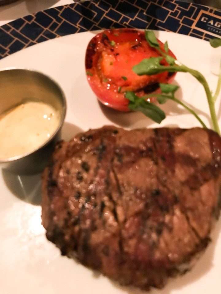 Filet Mignon in Cagney's Steakhouse