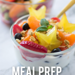 Meal Prep Fruit Salad Pin Image