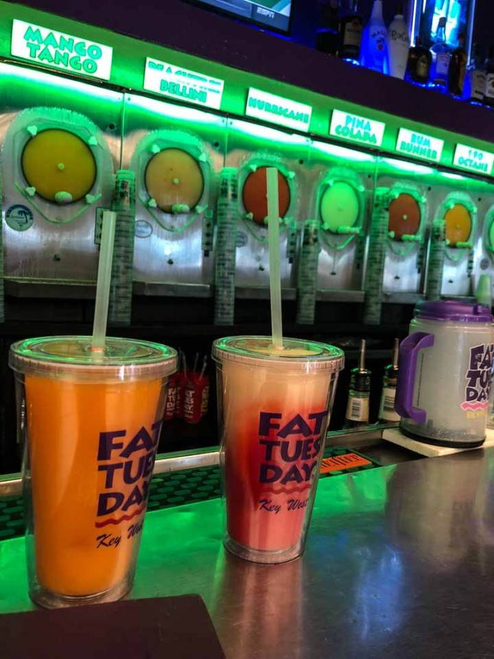 Drinks at Fat Tuesday in Key West
