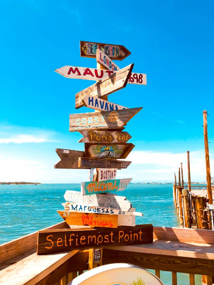 Selfiemost Point sign at Sunset Pier at the Ocean Key Resort