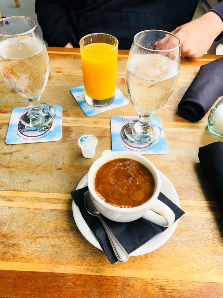 Morning coffee and OJ