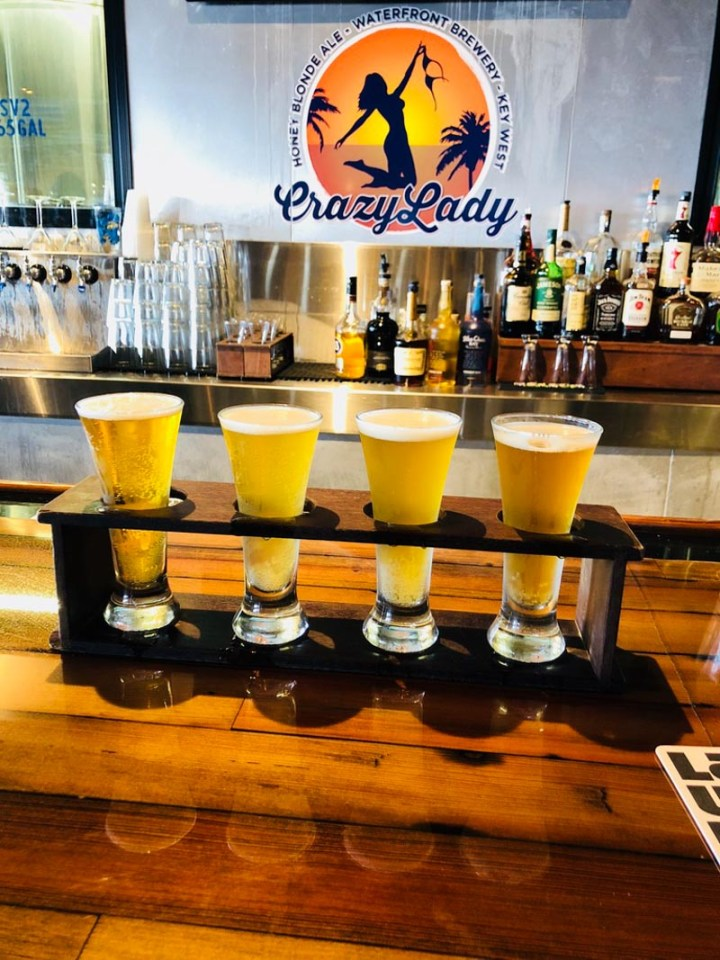 Flagship Flight of beer at The Waterfront Brewery