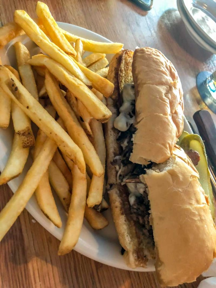 Cheesesteak and Fries at Jack Flats