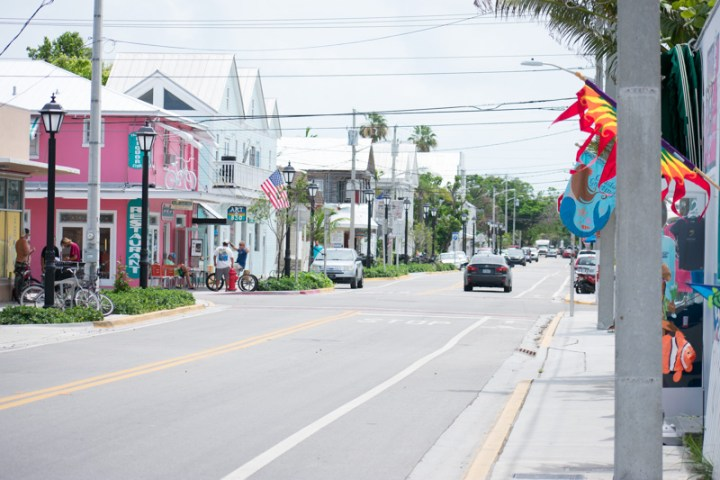 A street in Key West