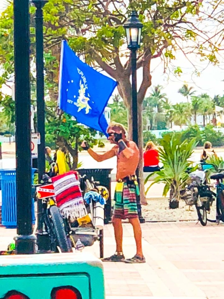 Street performer in Mallory Square
