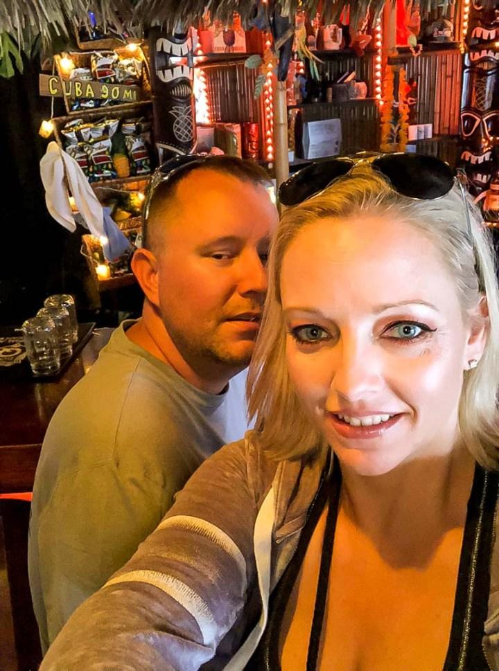 Hanging at the bar at Tiki House
