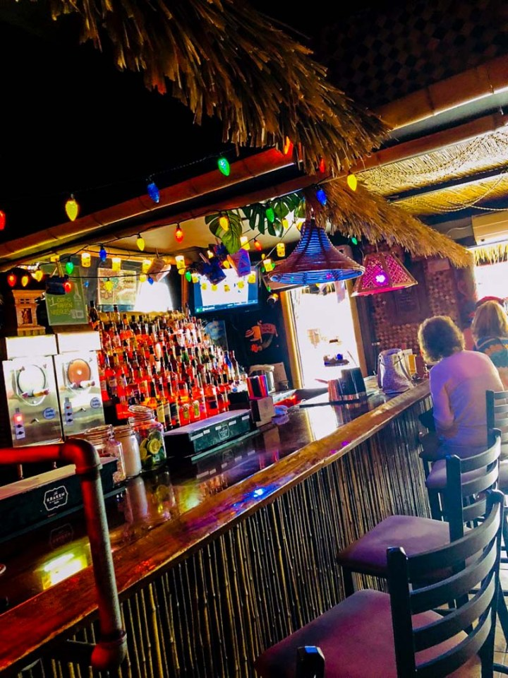 Bar side of Tiki House
