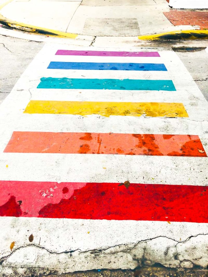Colorful crosswalks in Key West