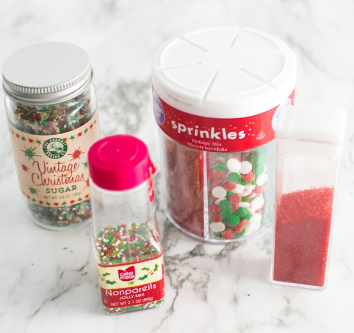 A variety of sprinkles that could be used in this recipe