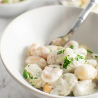Gnocchi with Gorgonzola Cream Sauce