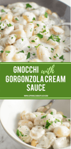 Gnocchi with Gorgonzola Cream Sauce Pin Image