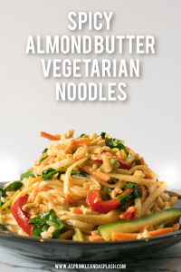 Spicy Almond Butter Vegetarian Noodles Pin Image