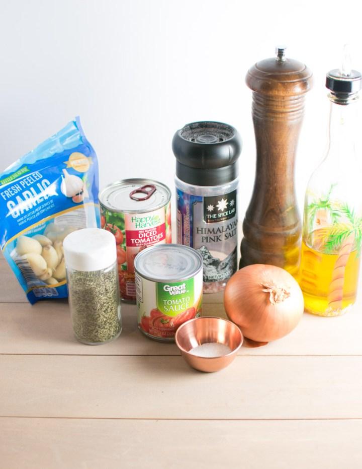 Ingredients needed to make 10 Minute Marinara Sauce