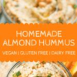 Homemade Almond Hummus Pin 2