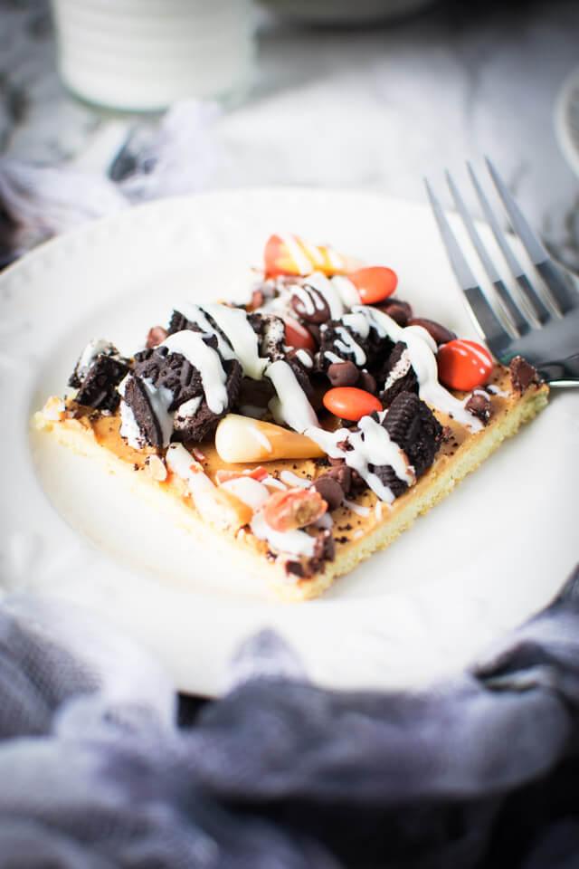 Closeup view of dessert on a plate