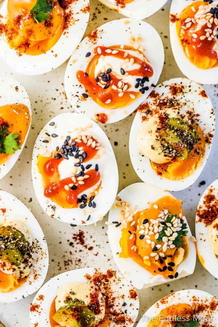 Lazy Deviled Eggs - 3 ways!