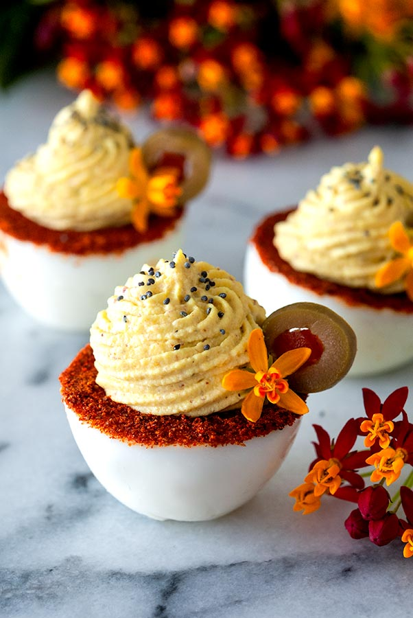 Spicy, Smoky Deviled Eggs Recipe