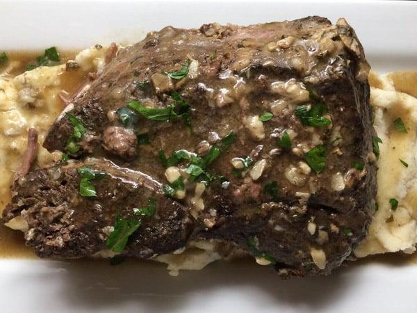 garlic stuffed chuck roast