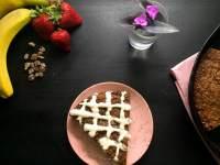 Strawberry Banana Date Skillet Breakfast Cake