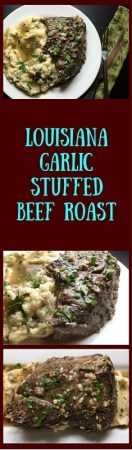 Louisiana garlic stuffed beef roast https://asprinklingofcayenne.com/louisiana-garlic-stuffed-beef-roast/