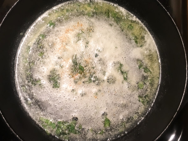 brown butter sauce with basil