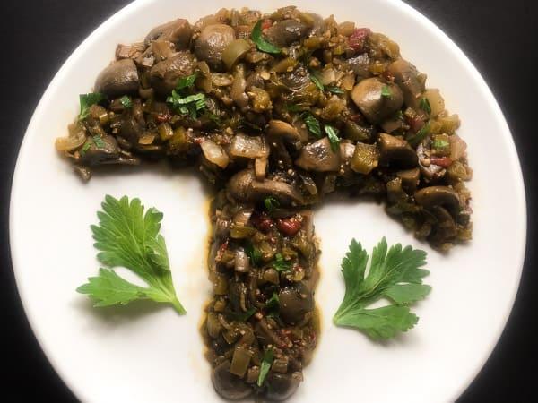 Easy Cajun Marinated Mushrooms