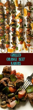 Gluten free and low carb, these Grilled Orange Beef Kabobs are perfect for outdoor entertaining.https://asprinklingofcayenne.com/grilled-orange-beef-kabobs/