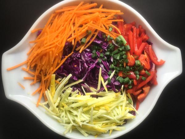 raw cole slaw vegetables