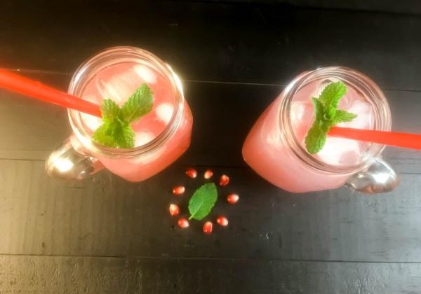 Homemade Pomegranate Mint Soda | https://asprinklingofcayenne.com