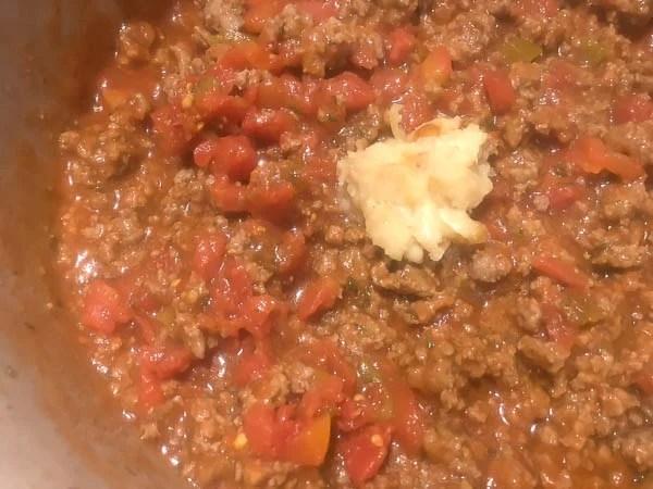 Homemade Bolognese sauce for Gluten Free Italian Pasta Bake from A Sprinkling of Cayenne.   https://asprinklingofcayenne.com