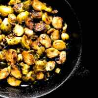 Cajun Pan Fried Brussels Sprouts