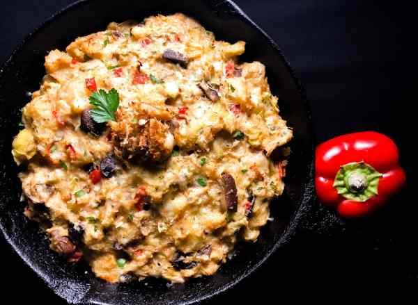 Gluten Free Cajun Crab, Artichoke, and Potato Casserole. | https://asprinklingofcayenne.com