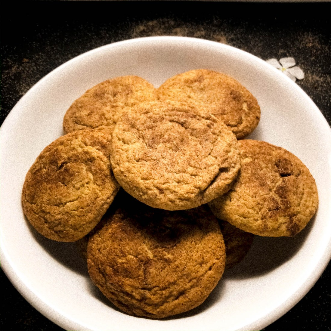 Close up of soft Snickerdoodles cookies