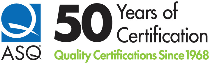 ASQ 50 years of certification. Quality certifications since 1968.