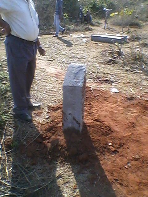 Pillar posting work going on for Forest Diversion work at Mouza Kaliamba