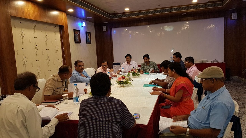 MD/ASRL Holding Meeting with District Collector and Superintendent of Police, Jajpur on Land Acquisition Matter and Police Arrangements for the Project Work