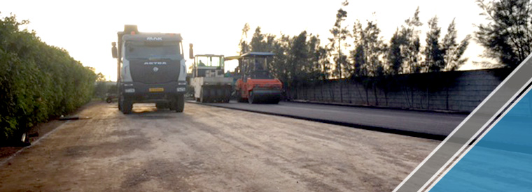 The end of the third part of the asphalt work (11)