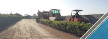 The end of the third part of the asphalt work (12)