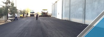 The end of the third part of the asphalt work (19)